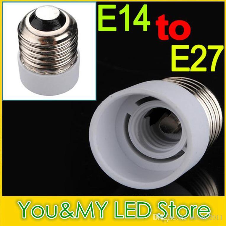 LEDの蝋燭ライトLEDの球根ねじベースのための白い色のランプホルダーアダプタのコンバータのベースコンバータE14からE27またはE27~E14