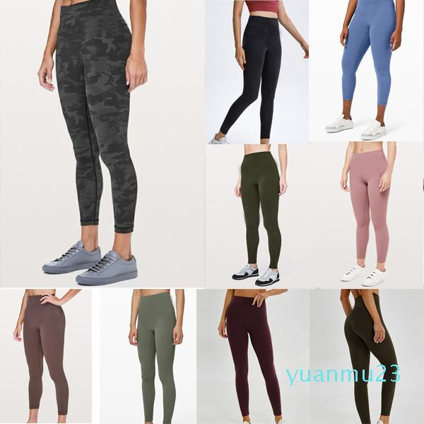 Newest sports yoga outfits pants leggings women's high waist buttocks breathable nude align fitness pant quick-drying clothes