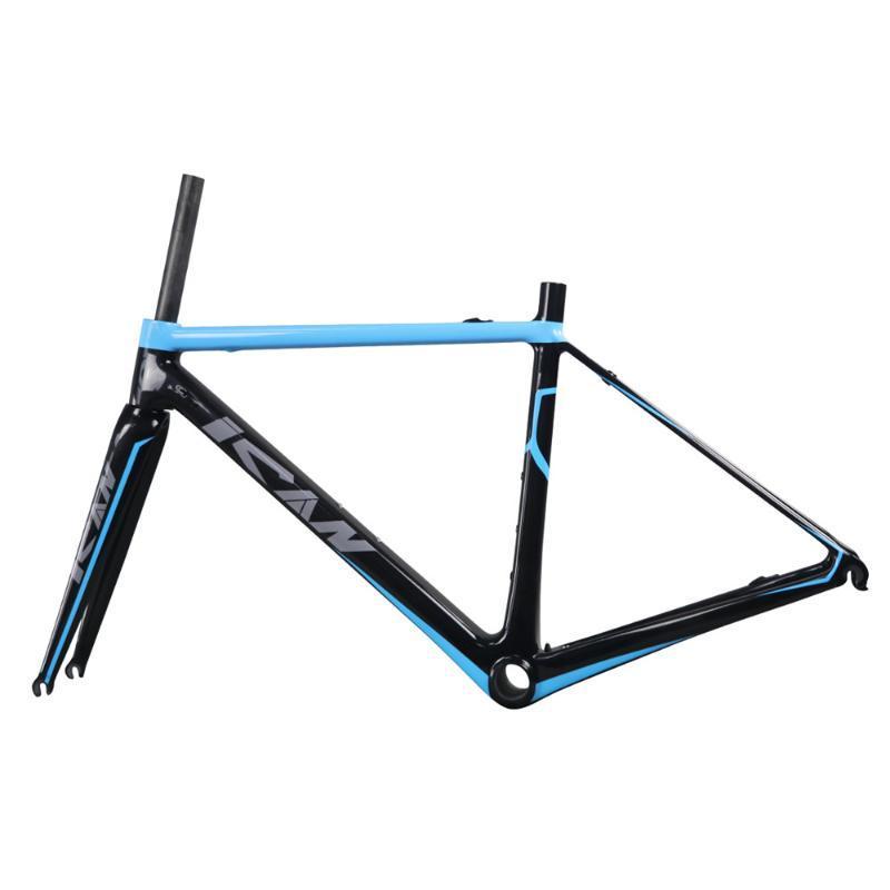 Bisiklet Çerçeveleri 850g Süper Hafif Karbon Yol Çerçevesi 56 cm BB86 veya BB30 Toray Yarış UD Matt