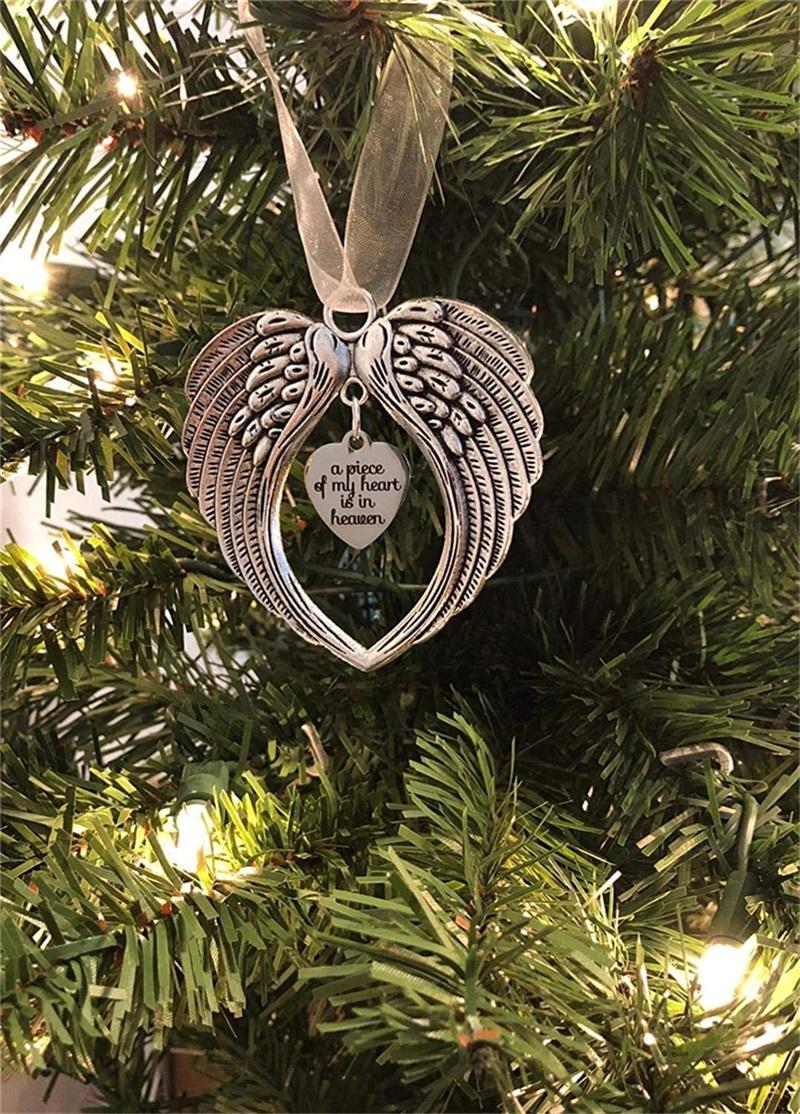 الملاك الجناح القلب بؤري قطعة قلبي في السماء القلب سحر زخرفة ذكرى تذكارية فقدت أحبائها حلية تذكار حلية 125 S2