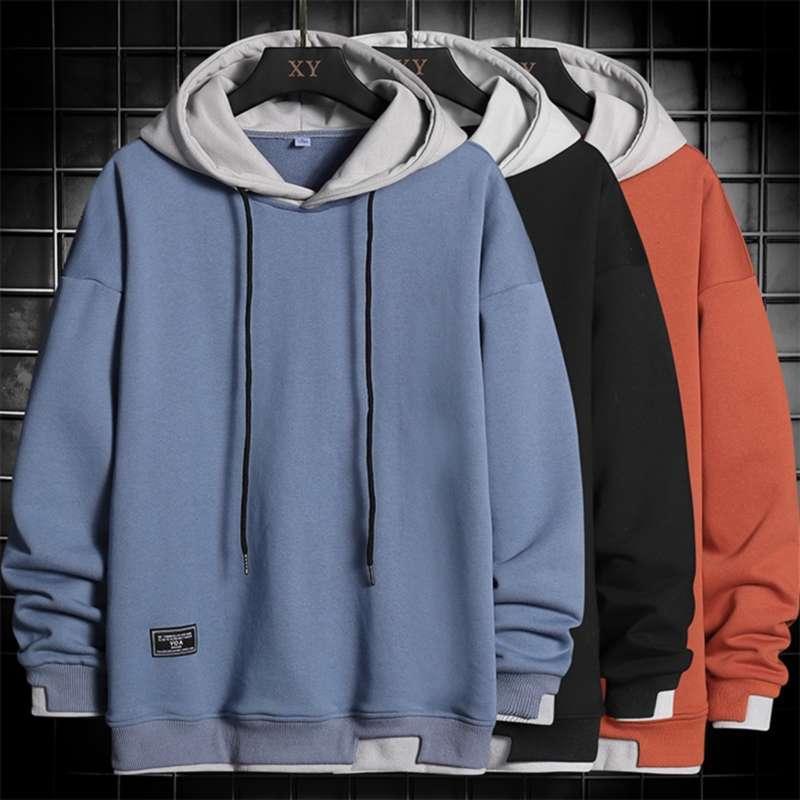 Homens Hoodies Harajuku Hip Hop Sueter Casual Oversized Hoodie Homens Hooded Pullover Tops Mens Sportswear Hoodies Roupas 210927
