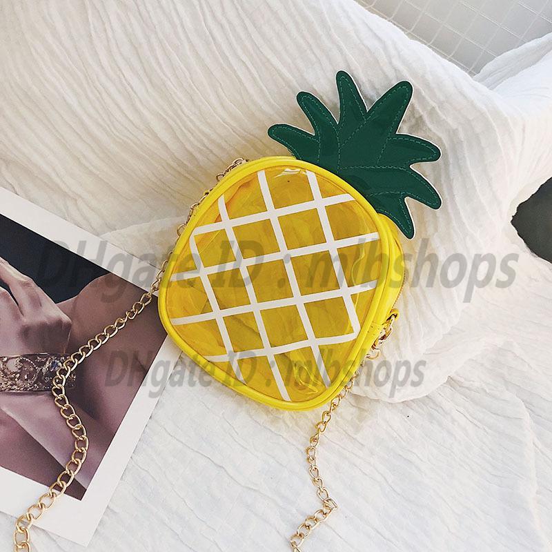 Sacos de Ombro Luxurys Designers de Alta Qualidade Moda Moda Crossbody Bolsas Carteiras Senhoras Embreagem Abacaxi Cadeia Transparente Saco Bolsa 2021 Totes Cross Body