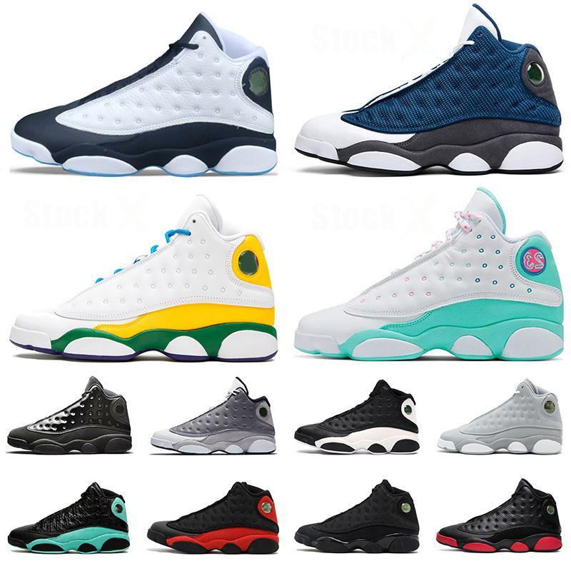 신발 retro 13 13s New Jumpman Flint 2020 Basketball Shoes 남성 여성 녹색 놀이터 레이커스 Bred 스니커즈 트레이너 크기 EUR 47