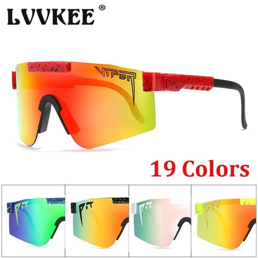 Gafas de sol originales Pit Viper Eyewear TR90 A prueba de viento Deporte Polarizado Polarized Motoristas Piloto Hombres Marcas Golf UV UV ESPEJOS Sombras Radar del corazón
