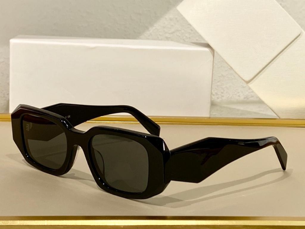 Sunglasses For Men and Women Summer style Anti-Ultraviolet 17WF Retro Square Plate Full Frame fashion Eyeglasses Random Box