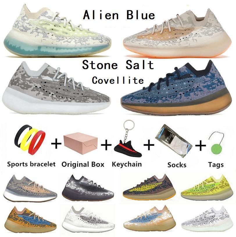 Kutusu ile Alien Blue Stone Salt 380 Covellite erkek koşu ayakkabısı modası Yecoraite RF Glow pepper Oat Lmnte Mist 380s erkek kadın eğitmenler spor ayakkabı