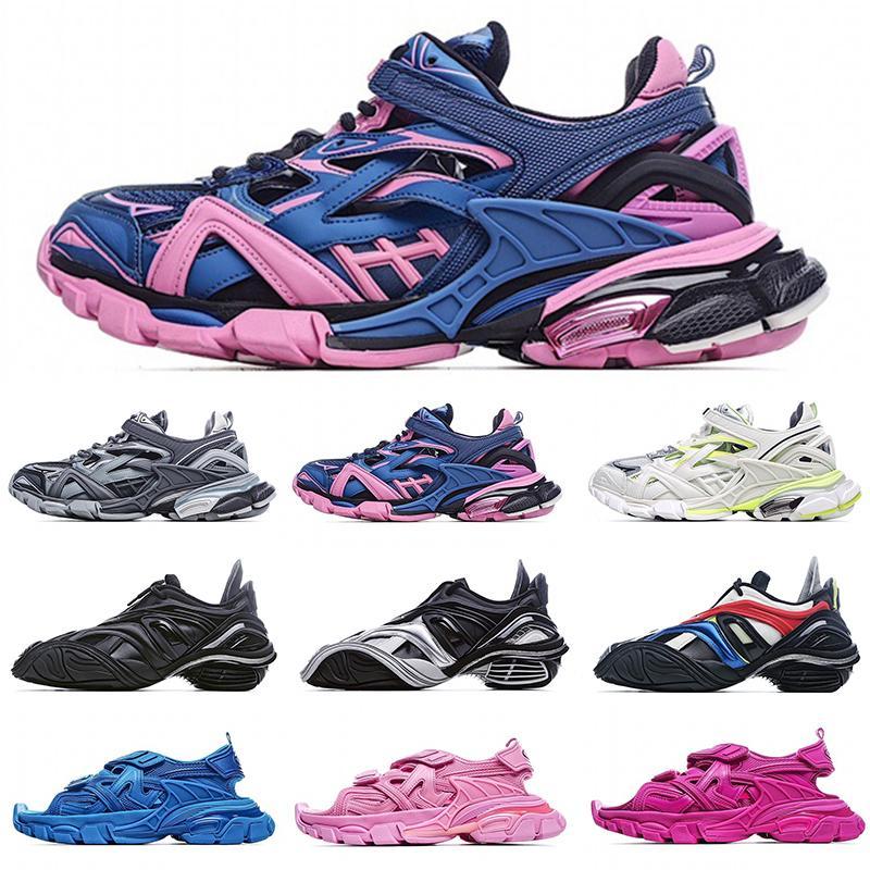 [상자 포함] Balenciaga Track 4.0 retro old shoes running shoes Balenciaga 5.0 tyrex Sneaker Bicol Or Rubber/Mesh/Not Wash Black Velcro sandals
