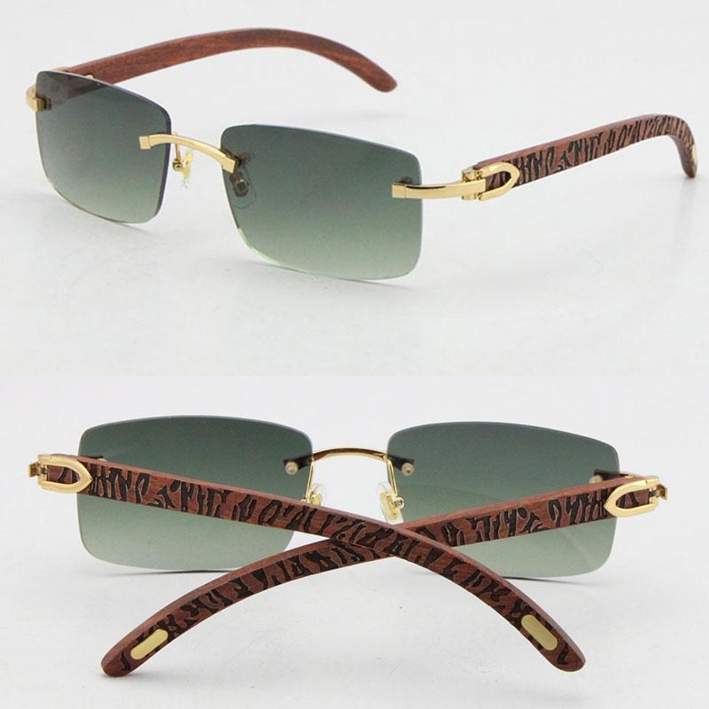 도매 판매 8200757 스타일 무선 새겨진 나무 선글라스 유니섹스 장식용 장식 UV400 렌즈 프레임 원래 나무 안경 남성과 여성