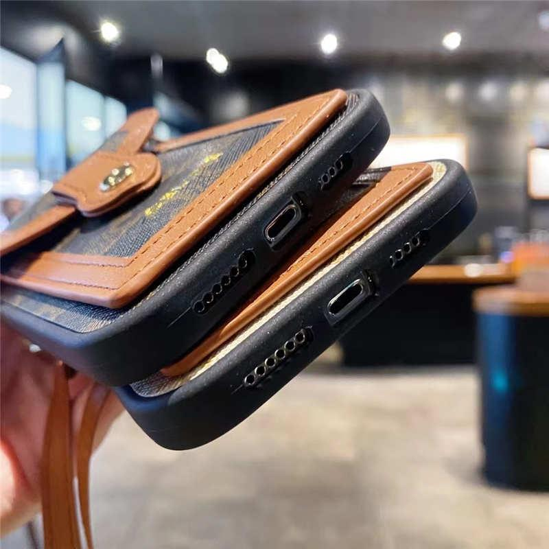 PU Leather wallet-style Phone Cases For Apple iPhone 12Mini 11 Pro Max Xs X Xr 7 8 Card Package Shockproof Back Cover