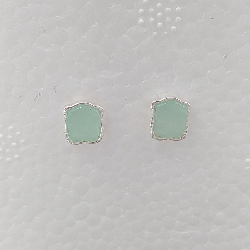 Bear Jewelry 925 orecchini in argento sterling sterling argento orso orecchini a colori con amazzonite adatti regalo di gioielli europeo 815433600