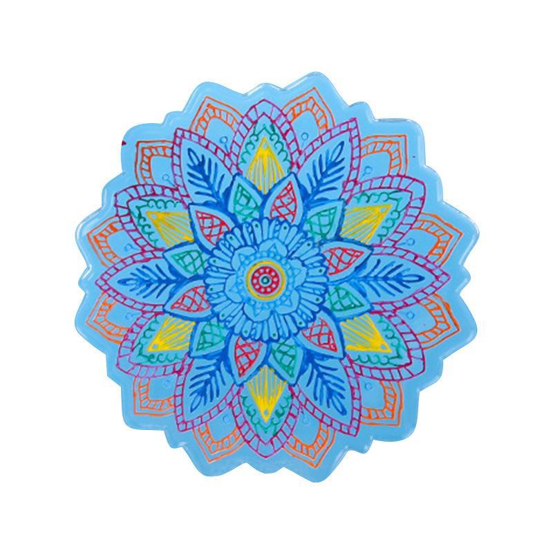 Epoxy Résine Silicone Moules Sun Flower Tea The Tasse Support Moule Moules Mode Fashion Fleurs Moule Nouvelle arrivée 9 2BC P2