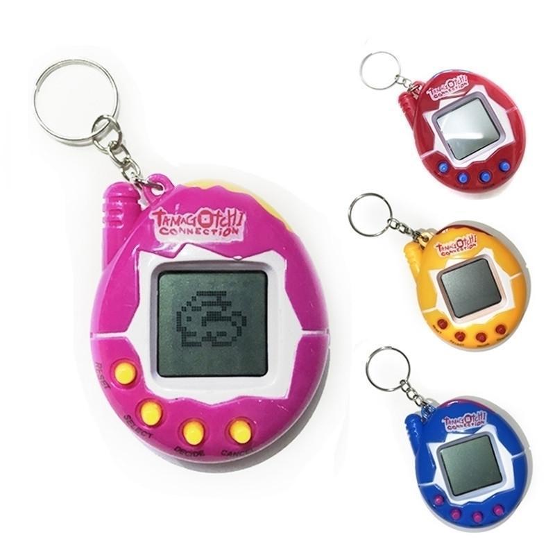 Parti Favor Elektronik Vintage Retro Oyunu Tamagotchi Dijital Evcil Sanal Siber Dekompresyon Oyuncak Anahtarlık Parmak Anahtarlık Stres Rölyef 50 adet / DHL