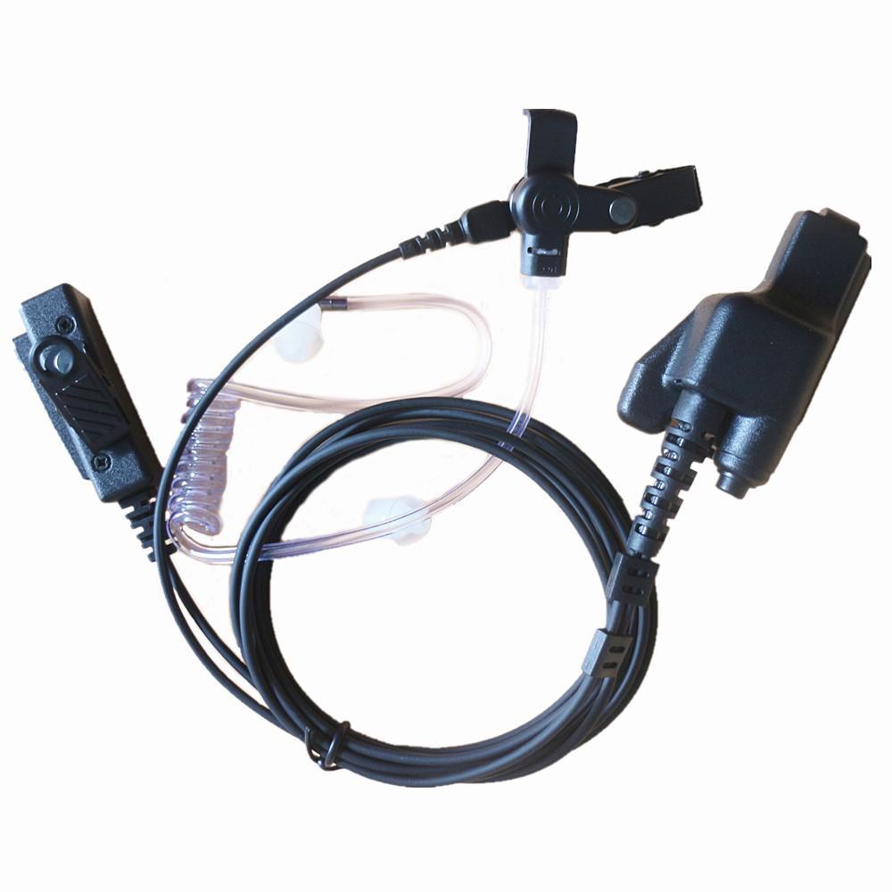 FBI Stil Covert Akustik Tüp Kulaklık Kulaklık PTT MIC Motorola Walkie Talkie 2-Way Radyo MT1500 MT2000 MTS2000 HT1000 GP900 PR 1500