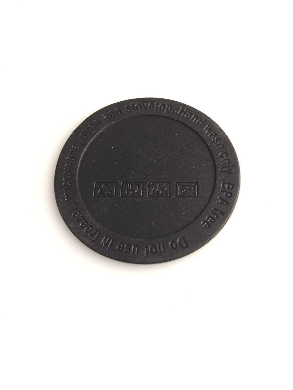 50mm 52mm 56mm schwarz Gummiturkupplungsaufkleber Edelstahl Tumbler ProtectorBottle Bottom Bottom Copper Tasse Gummi Untersetzer NHC7605
