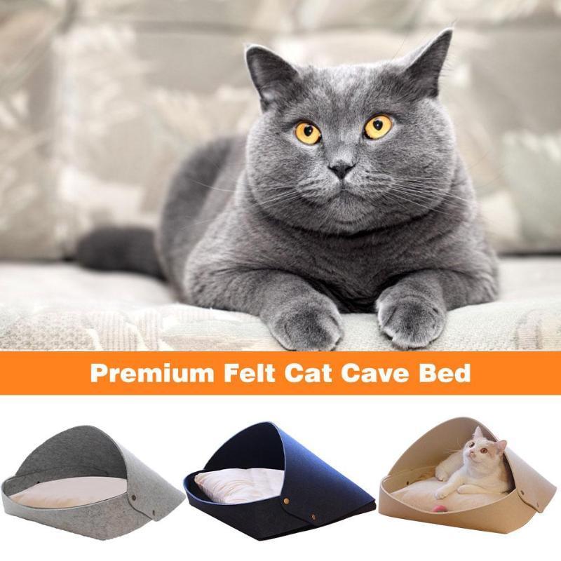 Кровати кошка Мебель ПЭТ Пещера Fire Premium Большой Космический Кровать Полузакрытый Латунный Замок Съемная подушка Удобная Отдых для и Спать
