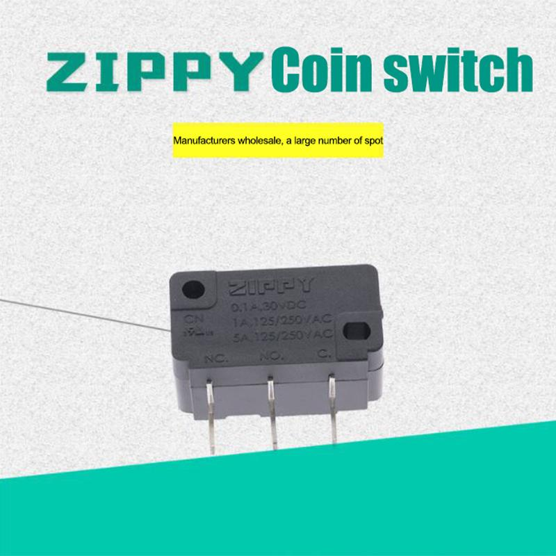 Taiwan original ZIPPY micro switches mouse tail coin machines milk tea sealing machine switch CNR-05S-03-Z