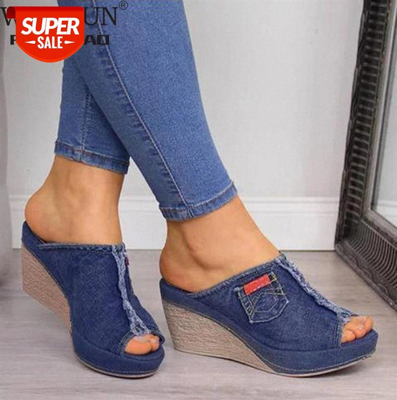 WDHKUN Lady Slope Sandals Women Platform New Summer Female Fish Mouth High Heels Wedge Shoes #bd2b