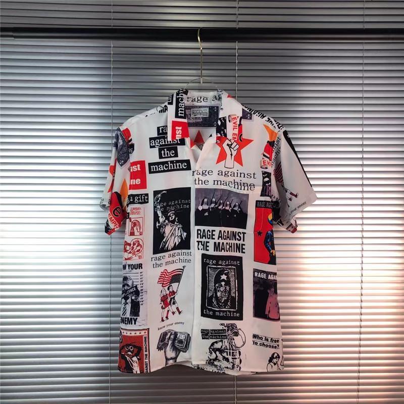 2021 Novo Wacko Maria Raiva contra a máquina Camiseta Homens Mulheres Top Tees Streetwear Camisas 279V