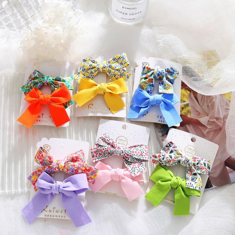 귀여운 꽃 활 머리 띠 양복 아이를위한 작은 신선한 어린이 duckbill 클립 헤어핀 패션 여자 머리 장식 액세서리 머리
