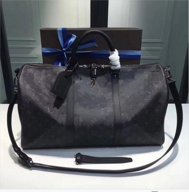 2021 حقيبة مخفوجة الكلاسيكية 45 50 55 سفر الأمتعة للرجال جلد حقيقي أعلى جودة المرأة crossbody حقائب الكتف حقائب رجالي المرأة حقائب 5 ألوان AAAAA8