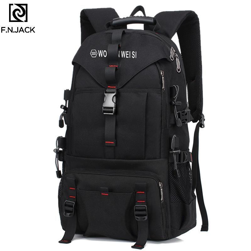 Mochila f.n.jack bolsa de viagem criativa grande capacidade de moda computador ombro bagpacks para homens bookbags causais