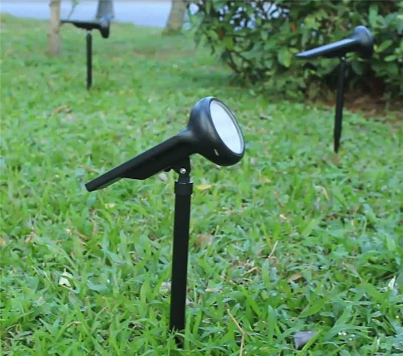 방수 LED 잔디 빛 7 컬러 스포트 라이트 정원 장식 및 조명 램프