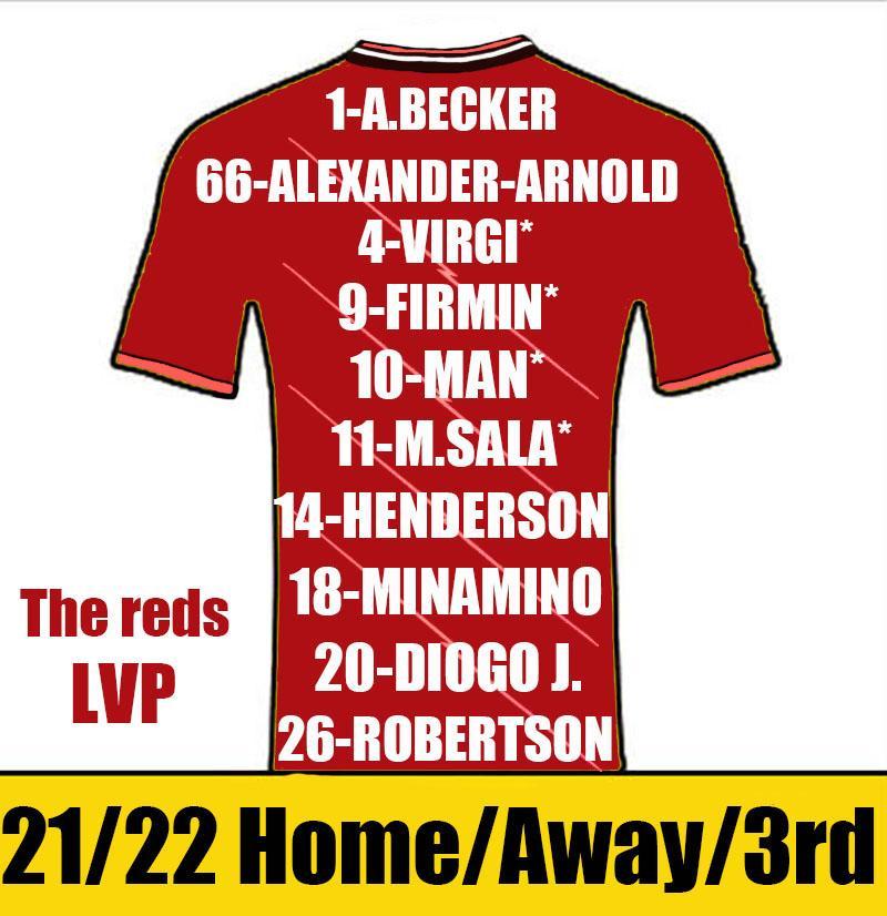 Reds Futbol Formaları 2021 2022 Adam Çocuk Kiti Alexander-Arnold Henderson Futbol Forması Fabinho Milner Robertson Diogo J Gömlek Camiseta de Futbol Kısa Kollu