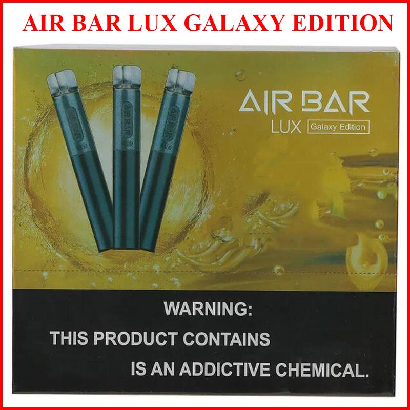Air Bar Lux E-Cigarettes Galaxy Edition Одноразовый Vape 20 Цвета 2.7 мл Стручки Батареи 550 мАч E-vapes
