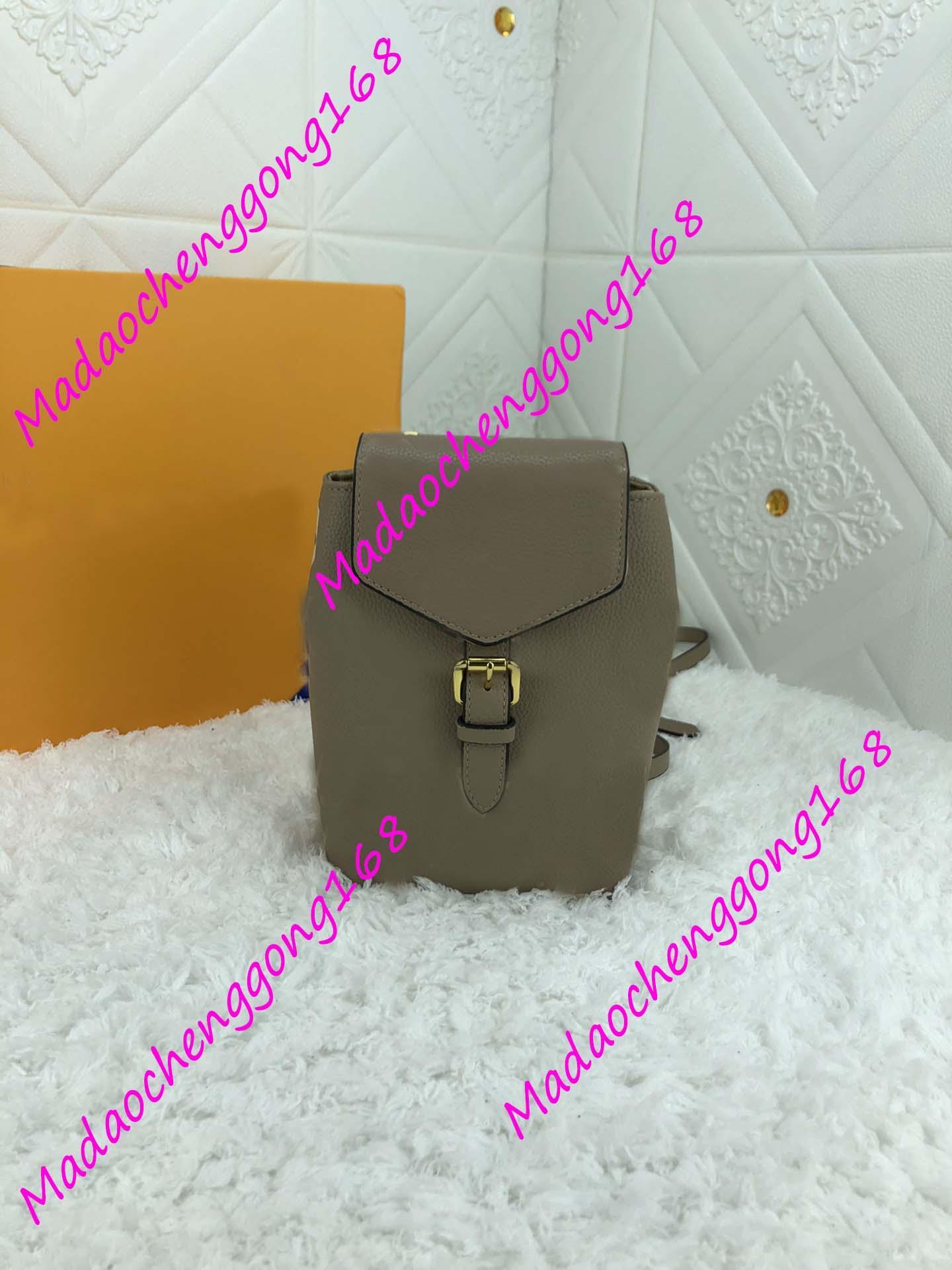 Neue Ankunft Mode Print Rucksack Schultasche Unisex Echtes Leder Rucksack Student Bag Weibliche Hohe Qualität Reisen Mini Rucksack 80738 13x19x8cm