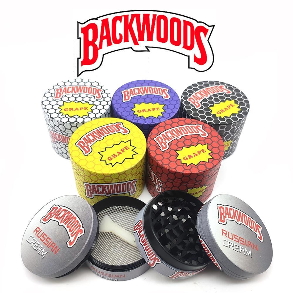 Backwoods Sharpstone Sigara Düz Davul Karikatür Çinko Alaşım 4 Katmanlar Metal Öğütücüler Tütün Kırıcı Kuru Herb Fabrika için Fiyat