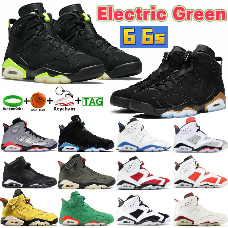 Hohe 6 6s elektrische grüne Männer Basketballschuhe Kaktus Britisch Khaki DMP UNC BLACK Infrarot Sport Turnschuhe Alternativer Hase Carmine Runner Trainer