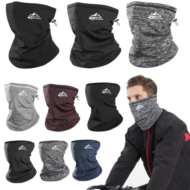 Winter Neck Warmer Cycling Scarf Outdoor Running Sports Headwear Face Bicycle Bandana Men Simple Fashion Bike Headbands Caps & Masks