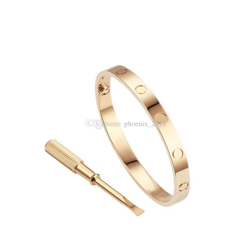 Amour Vis Bracelet Bracelet Bracelets de luxe Bijoux de luxe Femmes Bracelet Classique 5.0 Titane Alliage En Alliage En Alliage Gold-Craft Couleurs Gold / Argent / Rose Ne jamais disparaître pas allergique