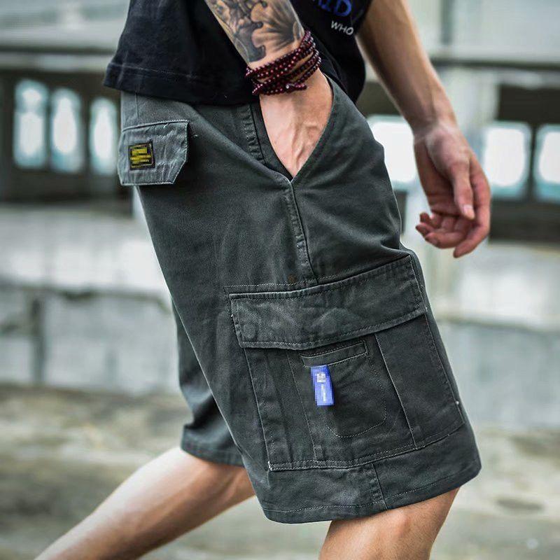 Men's shorts, high quality cotton shorts, fashionable, multi pocket, five point, summer, brand new J0524