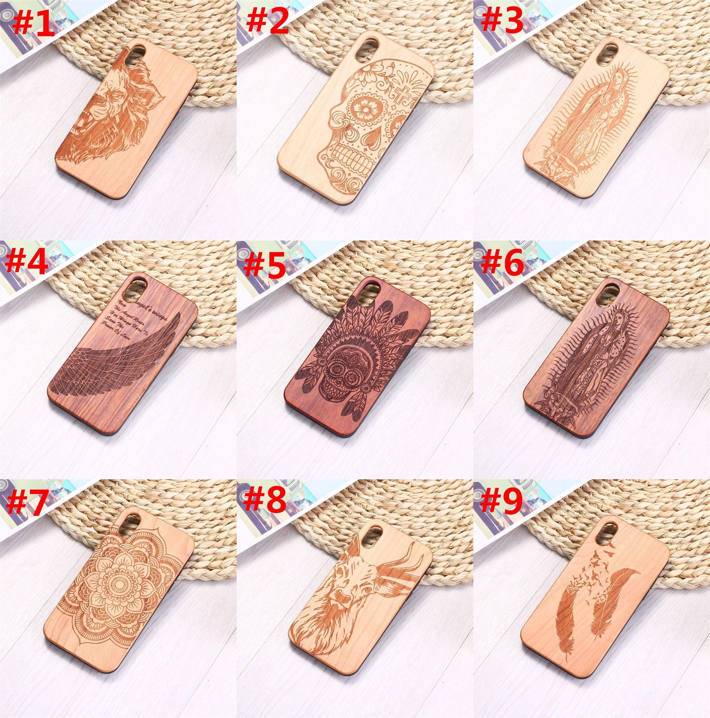 Подлинные деревянные чехлы для iPhone 12 Mini Pro 11 XS MAX XR 6 7 8 PLUS Graval Cover Cover Cover Propured деревянный бамбуковый чехол для телефона