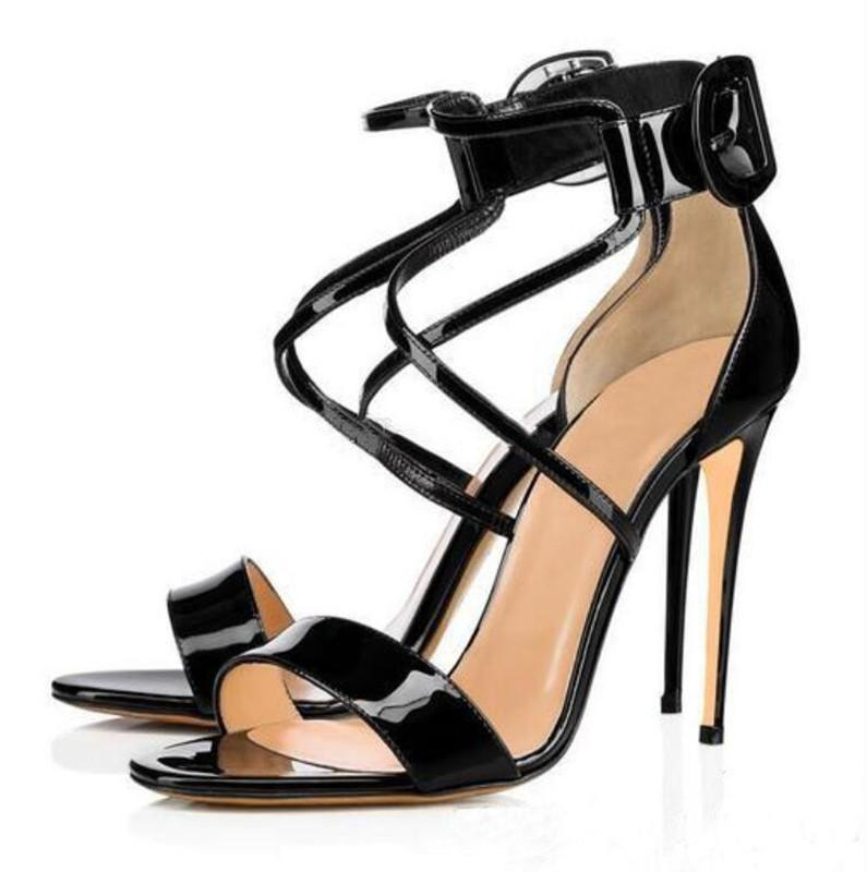 Summer Bing Pumps Women's Sandals Red Bottom Loubi Queen High Heels Lady Elegant Straps Luxury Sandalias Gift EU35-43