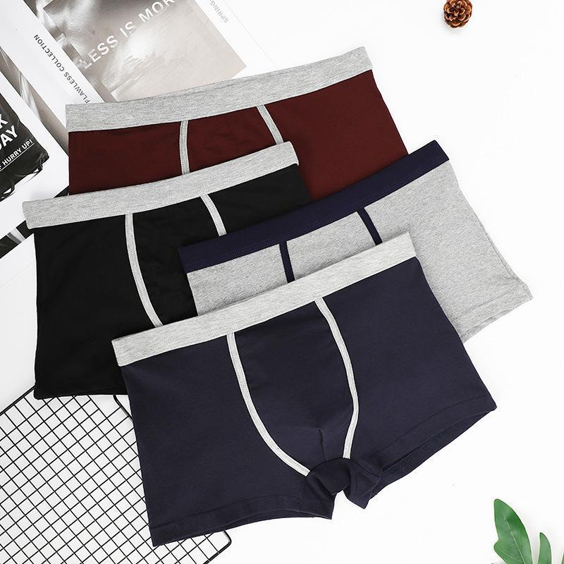 Sous-vêtements Quartiers Shorts Jinjiang Pantalons Sous-vêtements Solide Coton Solide Couleur Moyenne Taille Moyenne Sweat Absortant Jeunes Jeunes Jeunes