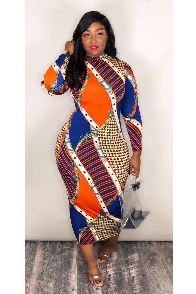 2021 موضة جديدة أنيقة طباعة طويلة الأكمام فستان ماكسي تنورة نمط هندسي المرأة