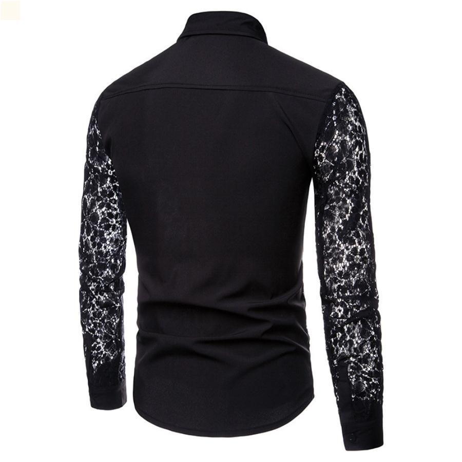 Летние дизайнеры Мужская рубашка поло мода мужская одежда высокое качество урожая топ воротник CamiSas de Hombre простота футболки 2021 платье длинные рукава мужские мужчины TF251