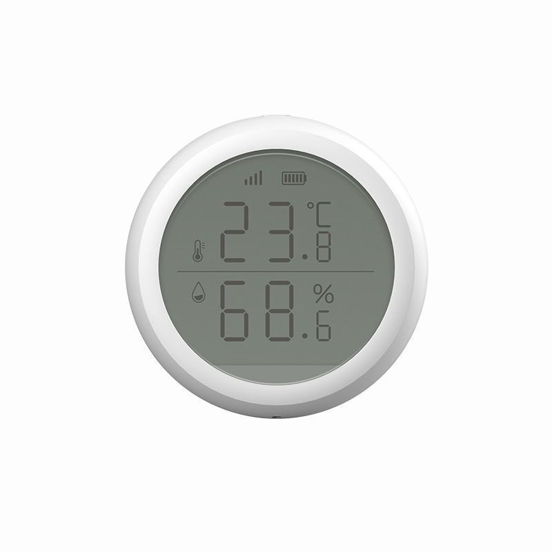 Capteur d'environnement d'humidité de la température intelligente de la pression d'air avec écran d'écran LCD via l'application Accueil Zigbee Connection Control