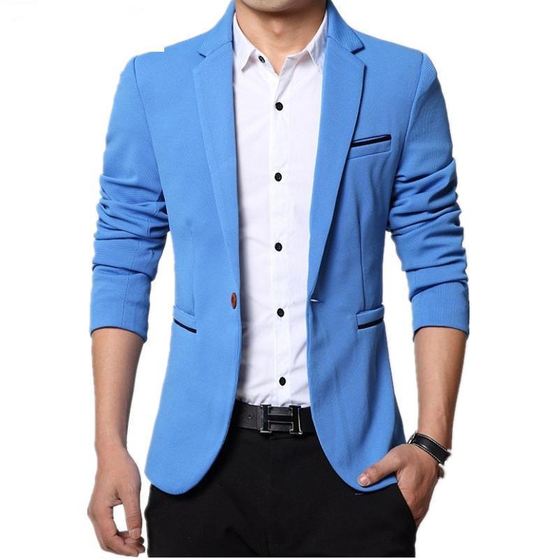 Costumes Hommes Blazers Arrivée Haute Qualité Hommes Suit Bouton Simple Jacket Loisirs Coréen Fashion Slim Cit Casual Blazer