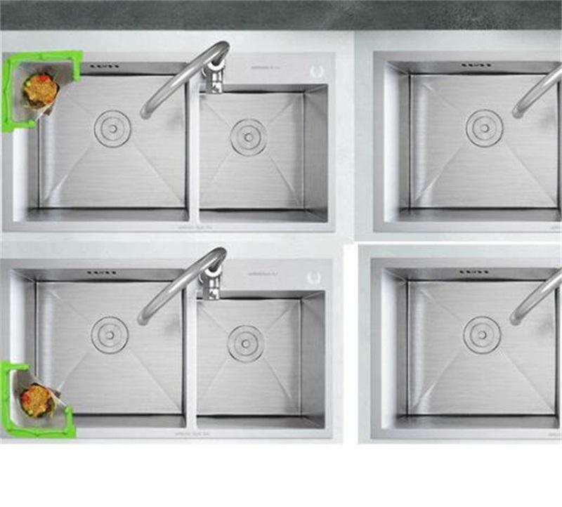 Кухонная раковина висит чистый стойковый фильтр остатки промывки треугольник слив с 50 одноразовые сумки крючки рельсы 1444 V2