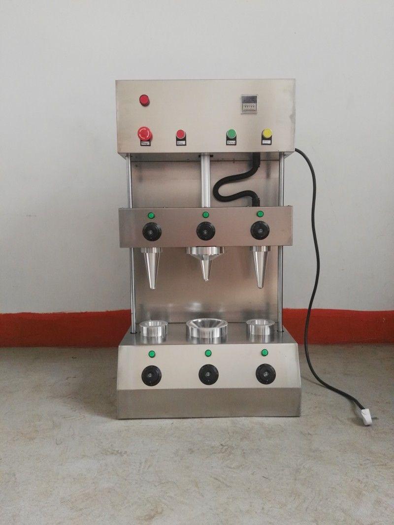 Yeni Paslanmaz Çelik Pizza Koni Makinesi Çıtır Çıtır Pizza Yumurta Koni Fırın Tatlı El Makineleri Makineleri