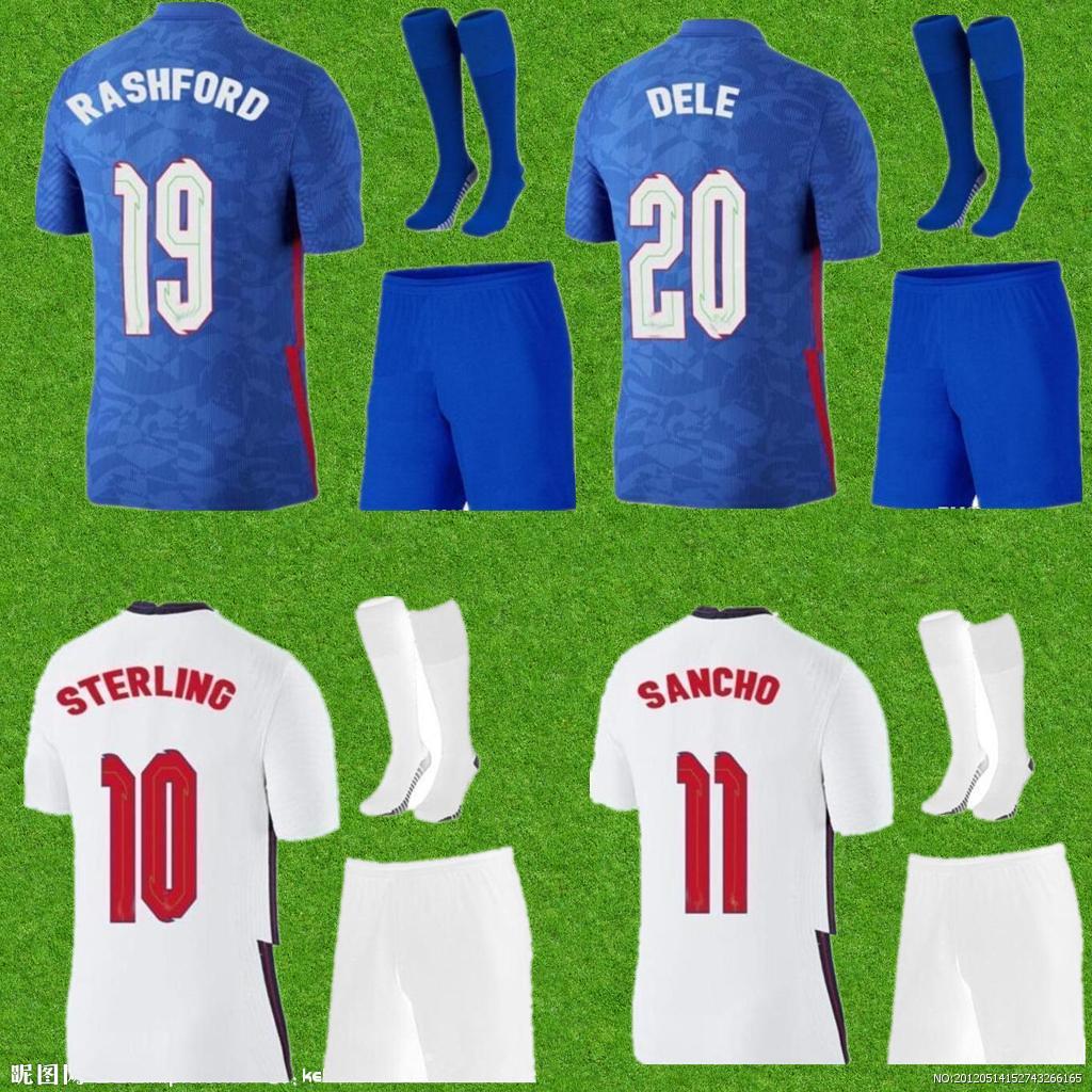 الرجال + أطفال أطقم 2021 روشفورد 10 # 9 Kane Soccer Jerseys Sterling # 7 Sterling Rooney Sturridge Henderson Vardy Sale Dele Sancho Barkley Rose