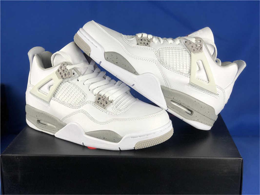 Sapatos liberar autêntico 4 White Oreo 4S Men Tech cinza preto fogo vermelho CT8527-100 retro sneakers esportivos