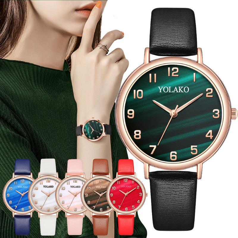 Wristwatches Exquisite Women Watch Leather Belt Sleek Minimalist Wristwatch Montre Femme Fashion Luxury Women's Wrist Watches