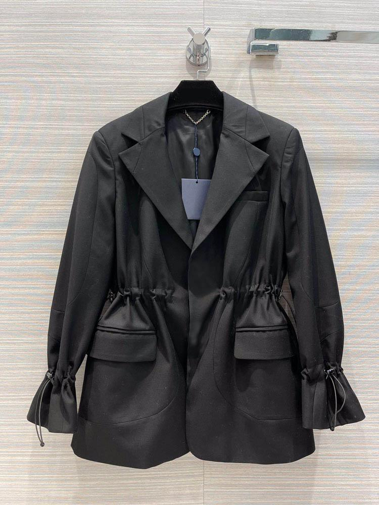 Women's Suits & Blazers Commute Solid Blazer Coats For Women Top Quality 3D Cut Lapel Butterfly Sleeve Coat High-end Brand Lady Autumn 2021