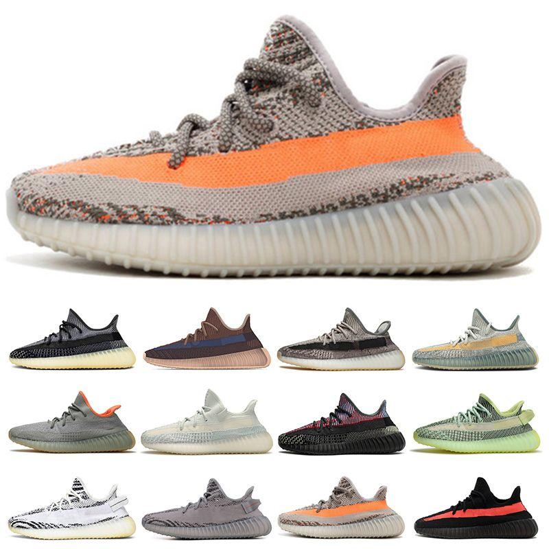 yeezy boost 350 v2 2021 Top Static 3M Running Shoes Belgua 2.0 Semi Congelado Sapato Amarelo De Alta Qualidade Designer Homens Mulheres Trainer Sneakers EUR 36-47