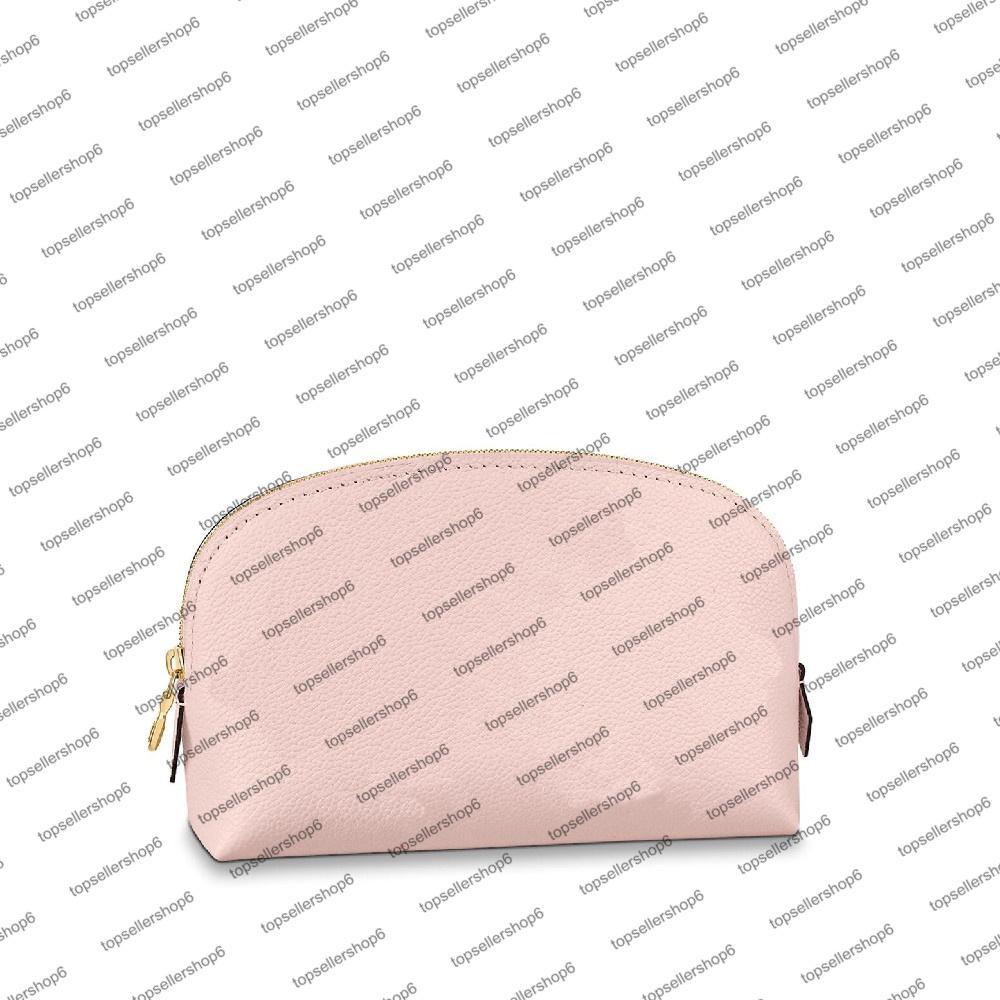 M80502 الحقيبة مستحضرات التجميل المرأة مصمم حقيبة حساسة الوردي محفظة اللون التدرج تنقش جلد البقر الجلود ماكياج مخلب حقيبة يد صغيرة المحفظة