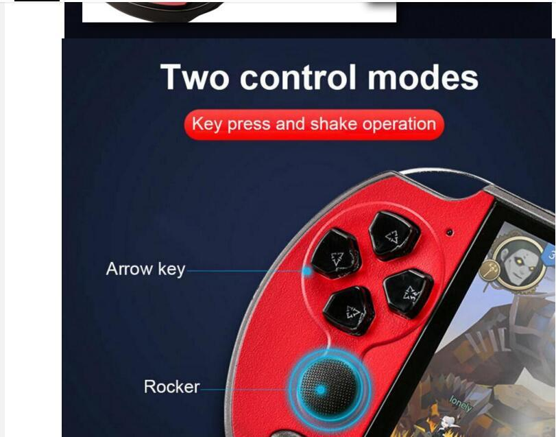 1 PC Handheld Console Nostálgico 5.1 Polegada HD Grande Tela 8G Built-in 200 jogos X7 Plus Classic Retro Video Game